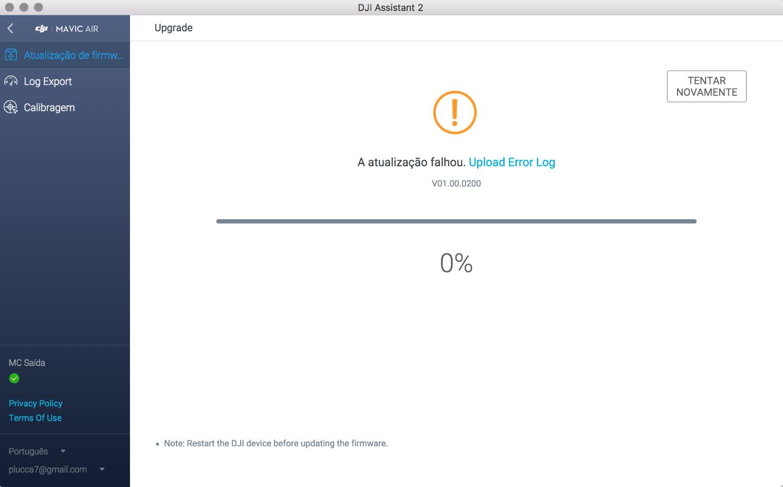 Mavic Air-Error during Firmware Upgrade | DJI FORUM