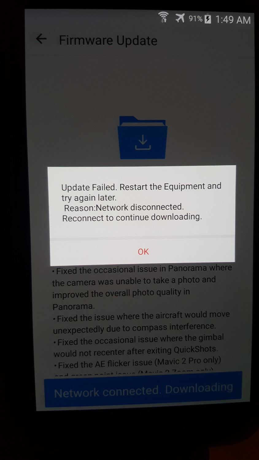 Mavic 2 Pro Firmware Update Failed | DJI FORUM